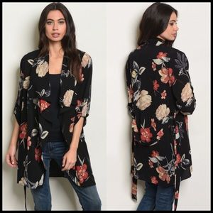 Floral kimono cardigan S, M, L NWT